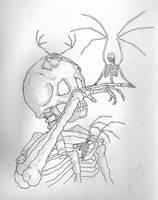 skulls by nikolelroark
