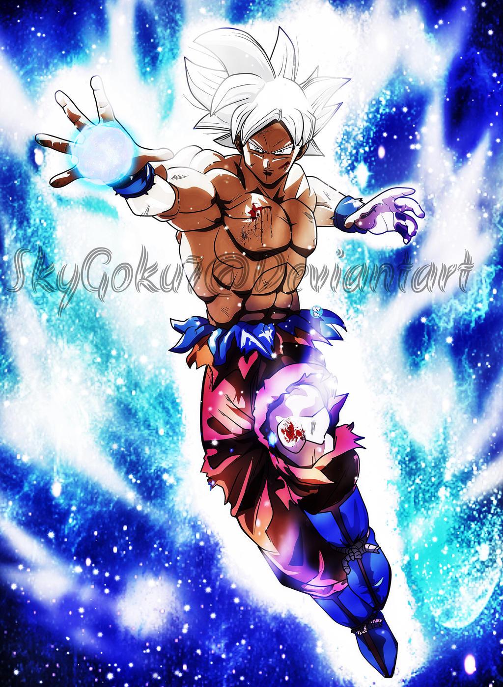 Goku mastered ultra instinct migatte no gokui by - Goku ultra instinct mastered wallpaper ...
