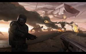 Robot war by AndreeWallin