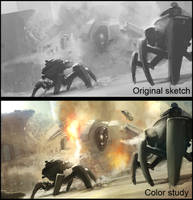 Mecha sketches by AndreeWallin