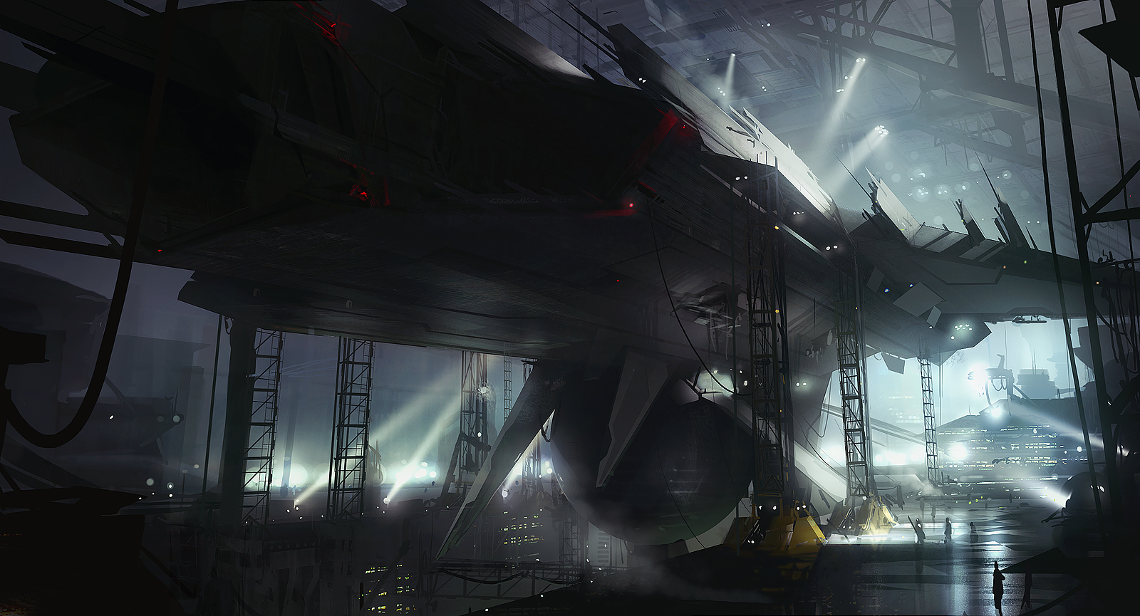 Starship factory by AndreeWallin