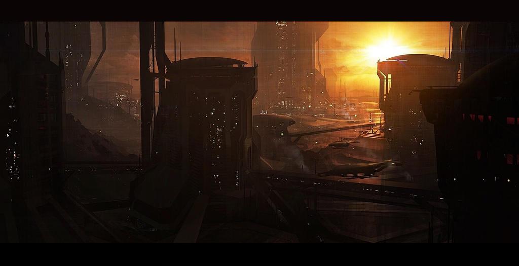 Scifi city speed by AndreeWallin