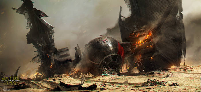 Star Wars: The Force Awakens - Crashed TIE fighter