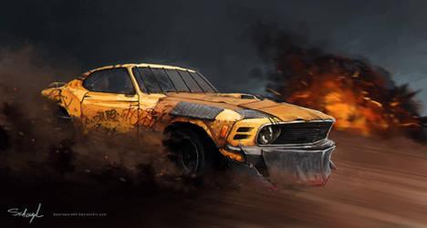 1970 Ford Mustang 'Mayhem' by Spellsword95