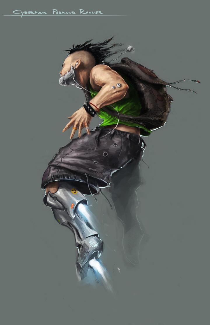 Cyberpunk Parkour Runner by Spellsword95