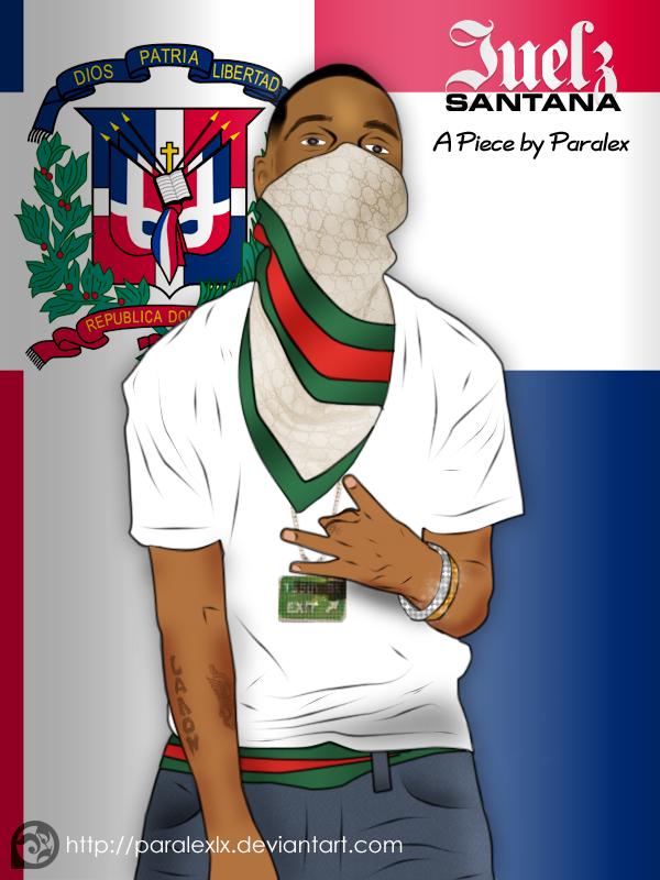 Juelz Santana Digital Painting by paralexLX