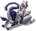 Sawk and Mewtwo