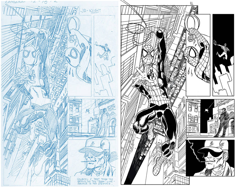 Digital Ink Spider-man, John Bhyrne pencils by Narumitsumi