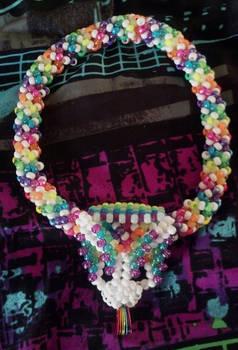 Rainbow Spiral Kandi Necklace