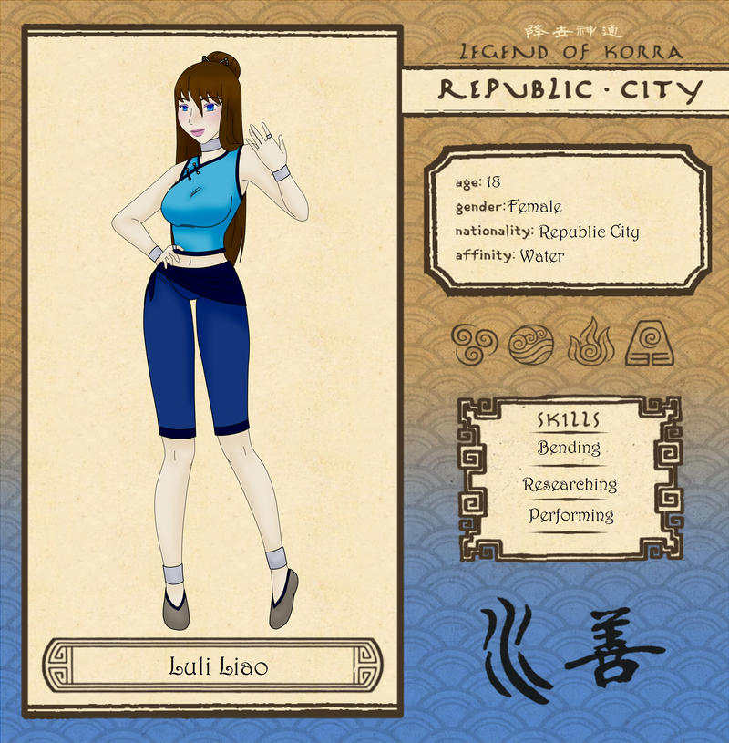 Republic City: Luli by RockinAnime