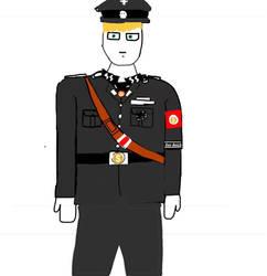 Waffen SS Officer Sketch (1925-1945)