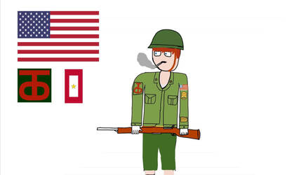 American Soldier 90th Infantry Division (WW2)