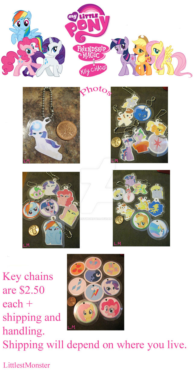 MLP Key chains photos by LittlestMonster