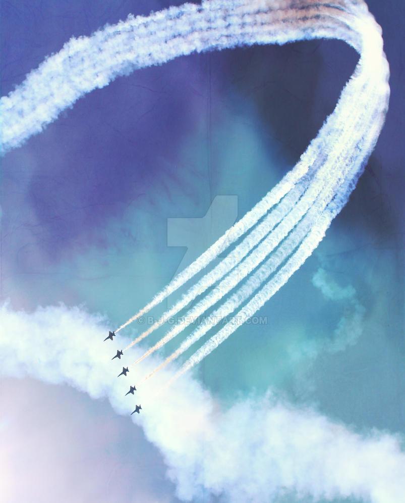 Blue Angels Sky by b-j-g