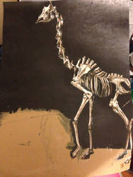 Giraffe Skeleton- work in progress by AKI355