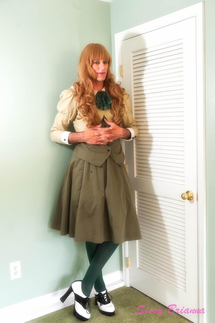 Green Dress by SissyBrianna