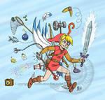 Link et son barda by AmmoniteFarouche