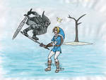 Link contre son ombre by AmmoniteFarouche