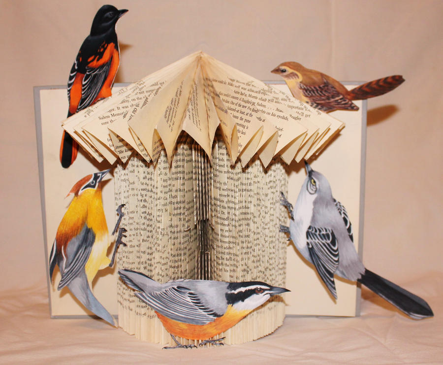 Bird House Book Alter by wetcanvas