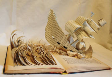 Pirate Ship Book Alteration by wetcanvas