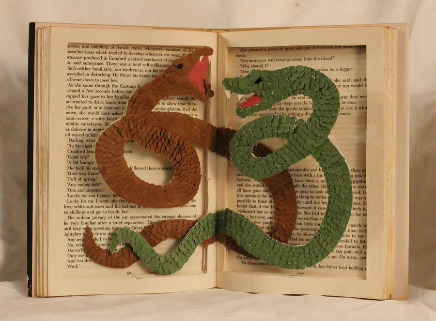 Twin Serpents Book Alteration by wetcanvas