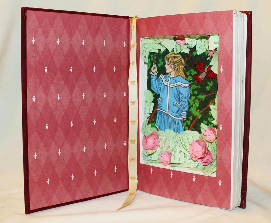 The Secret Garden Book Alteration by wetcanvas