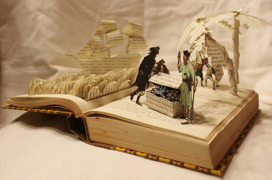 Treasure Island Book Alteration by wetcanvas