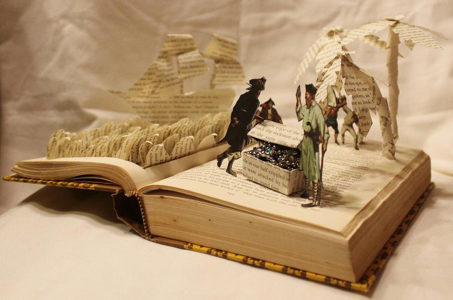 Treasure Island Book Alteration by wetcanvas