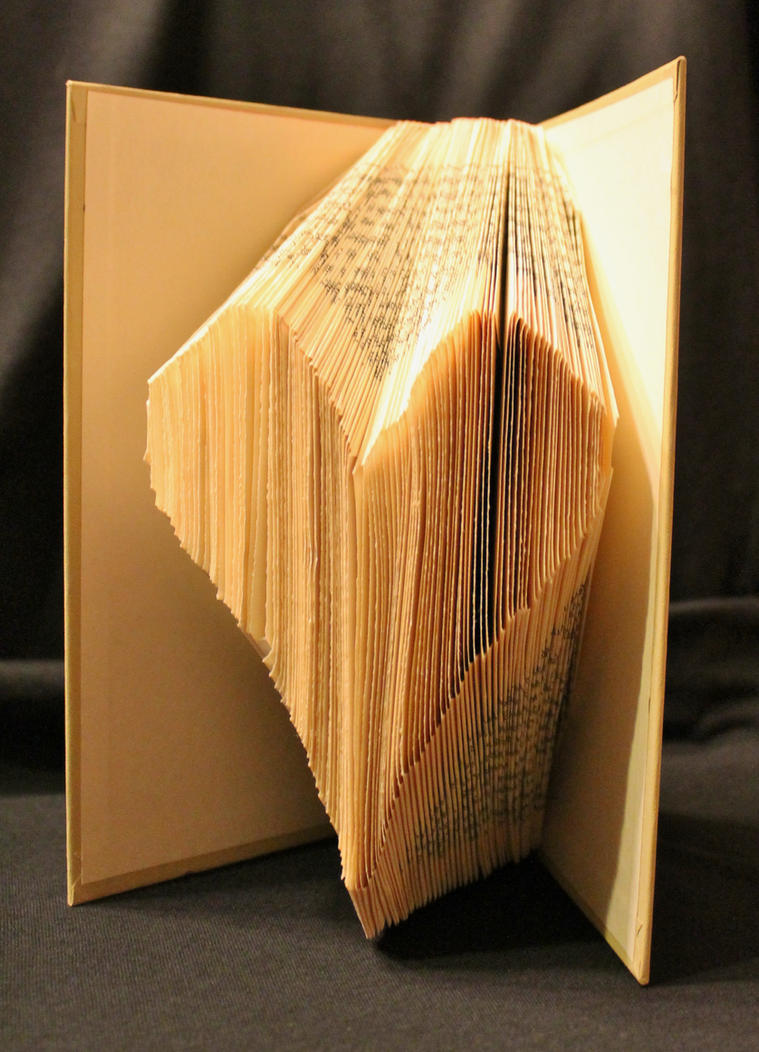 Folded Heart Book Alteration by wetcanvas