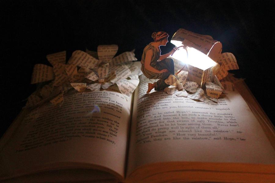Pandora's Box Book Sculpture
