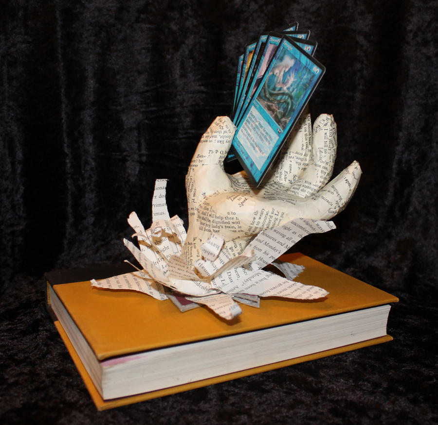 Customized Perfect Hand Book Sculpture by wetcanvas