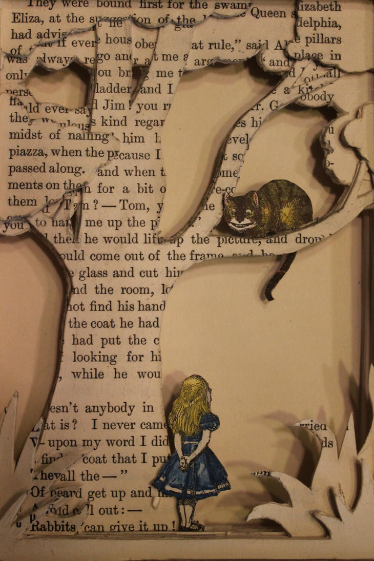 Alice in Wonderland Book Sculpture by wetcanvas