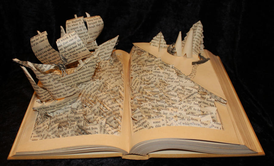 The Explorations of Columbus Book Sculpture by wetcanvas