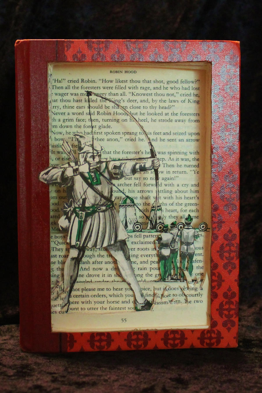 Robin Hood Book Sculpture by wetcanvas