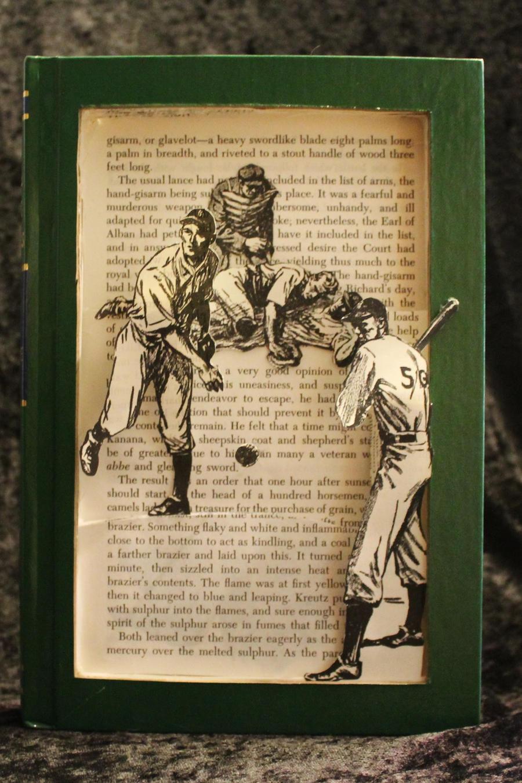 Baseball Book Sculpture by wetcanvas