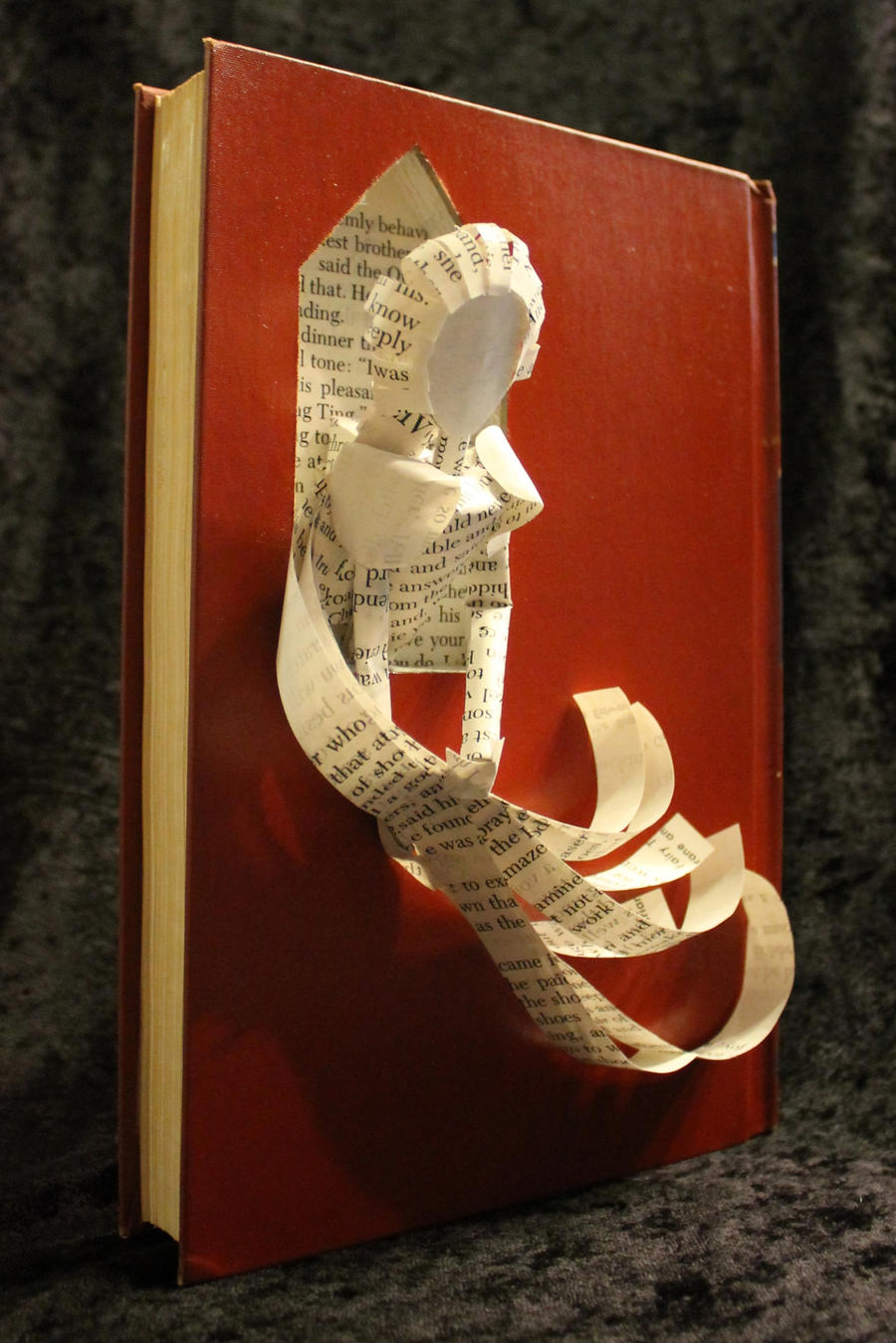 Rapunzel Book Sculpture by wetcanvas