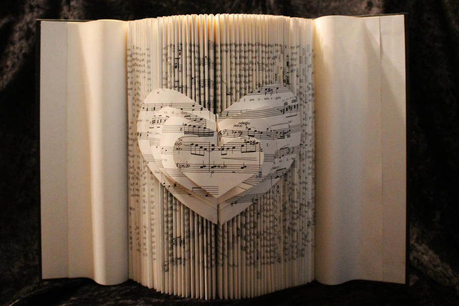 The Joy of Music Book Sculpture