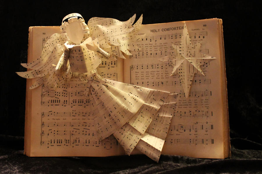 Hymnal Angel with Star