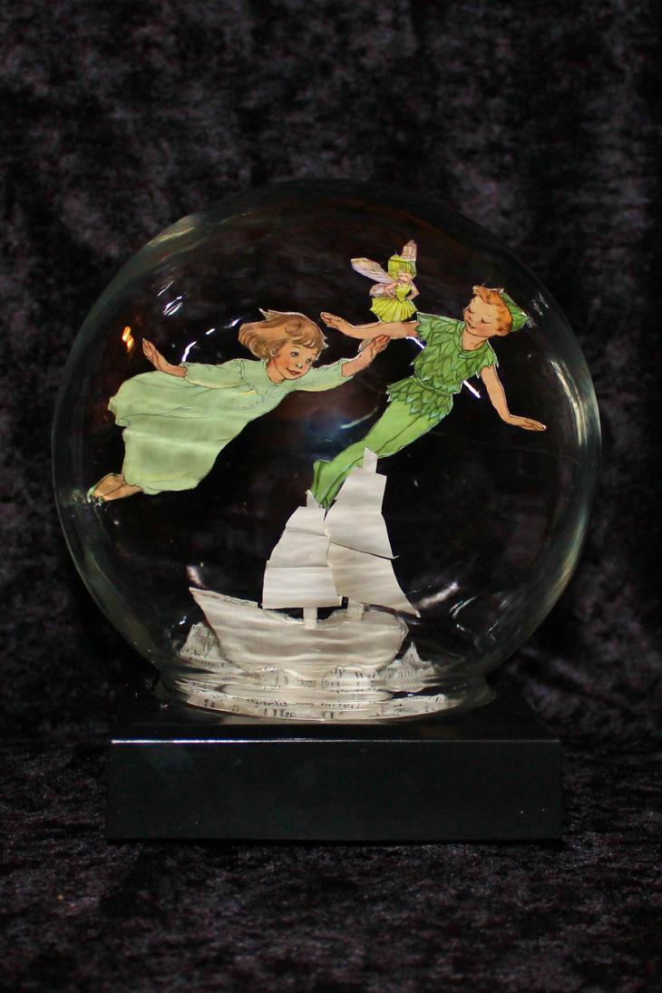 Peter Pan Book Sculpture by wetcanvas