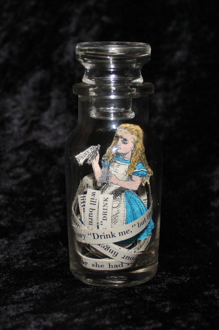 Drink Me Alice Book Sculpture by wetcanvas