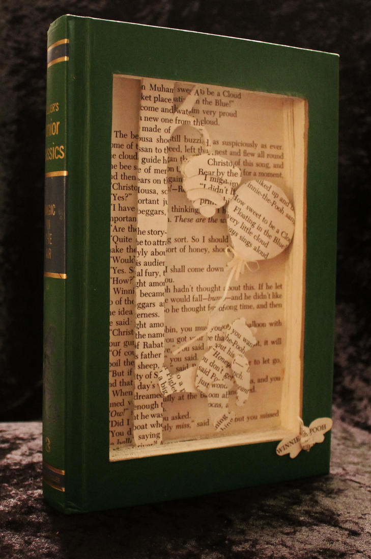 Winnie the Pooh Book Sculpture by wetcanvas