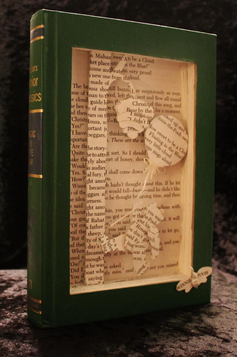 Winnie the Pooh Book Sculpture by wetcanvas