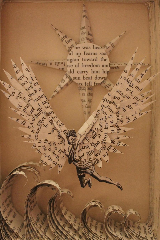 Icarus Book Sculpture by wetcanvas