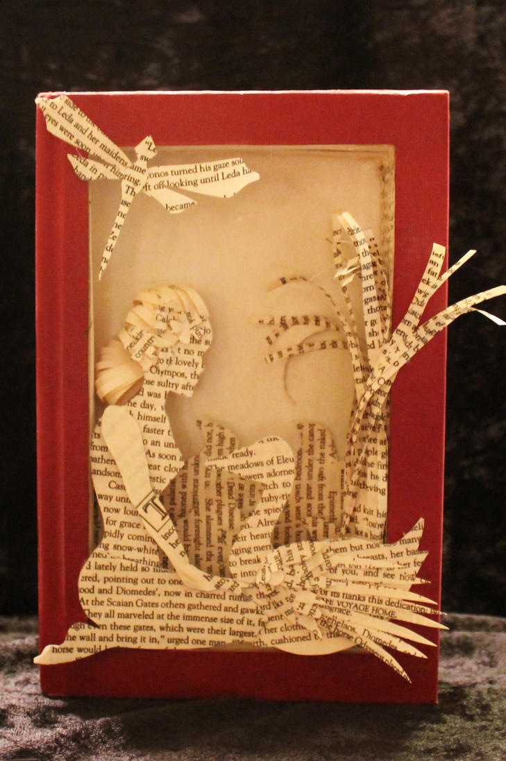 Leda and the Swan Book Sculpture by wetcanvas
