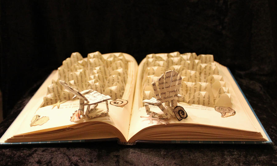 Life's A Beach Book Sculpture by wetcanvas