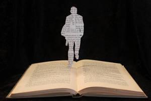 James Bond Book Sculpture by wetcanvas