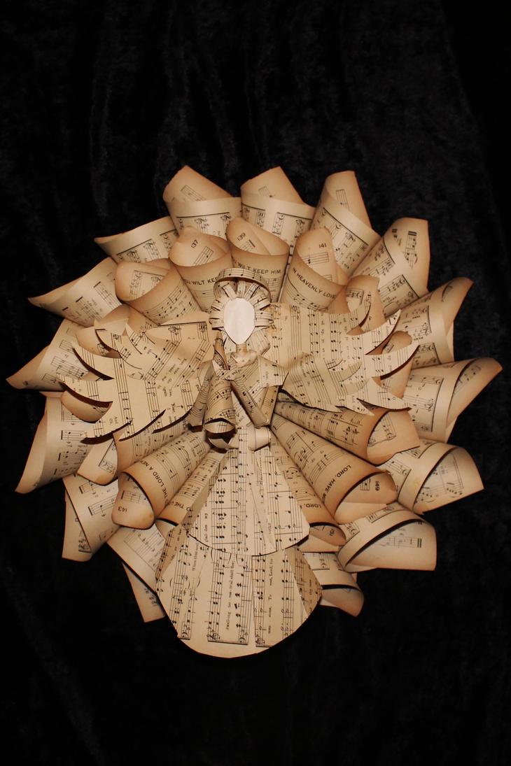Hymnal Angel Holiday Wreath by wetcanvas
