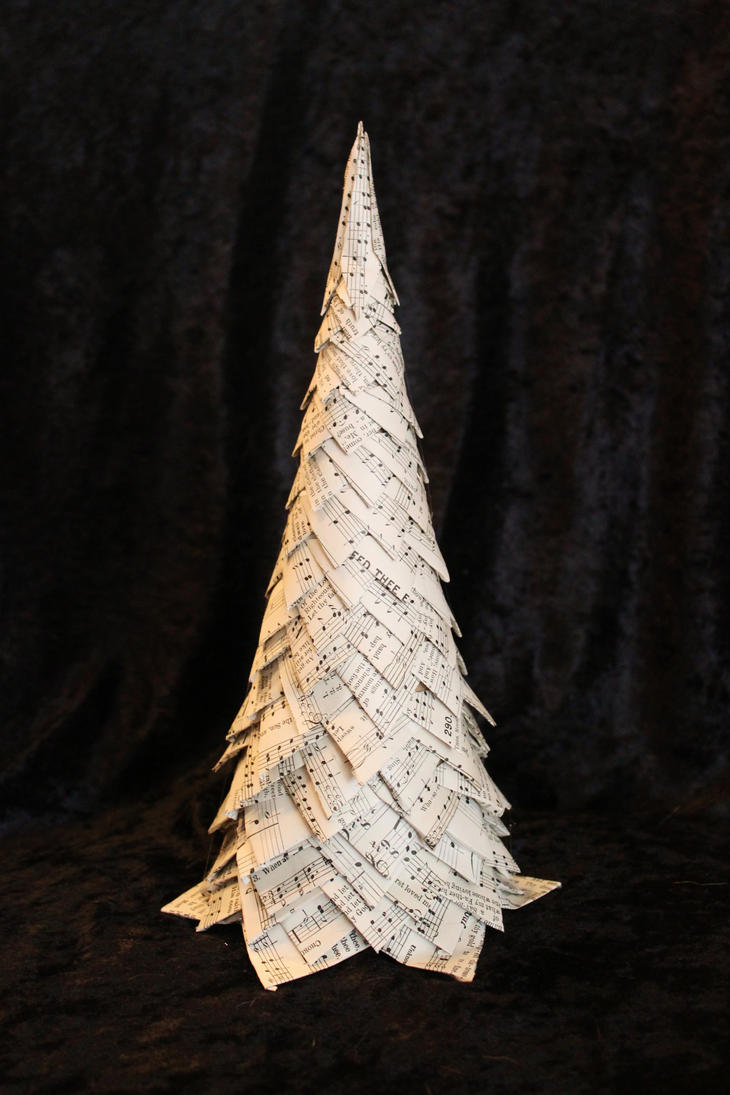 Christmas Tree Book Sculpture by wetcanvas