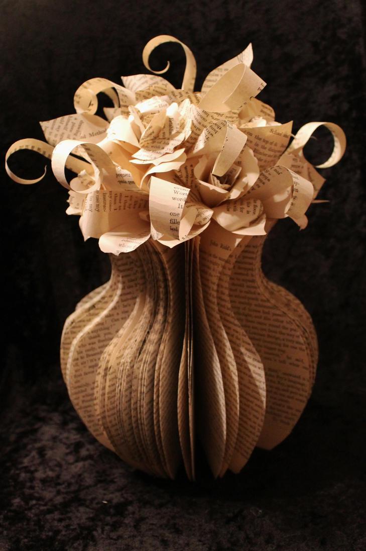 Large flower vase book sculpture by wetcanvas on deviantart large flower vase book sculpture by wetcanvas reviewsmspy