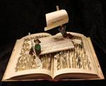 Tom Sawyer Book Sculpture